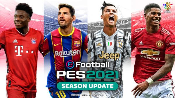 Gambar dari Messi dan Ronaldo menjadi bintang sampul eFootball PES 2021 1/1