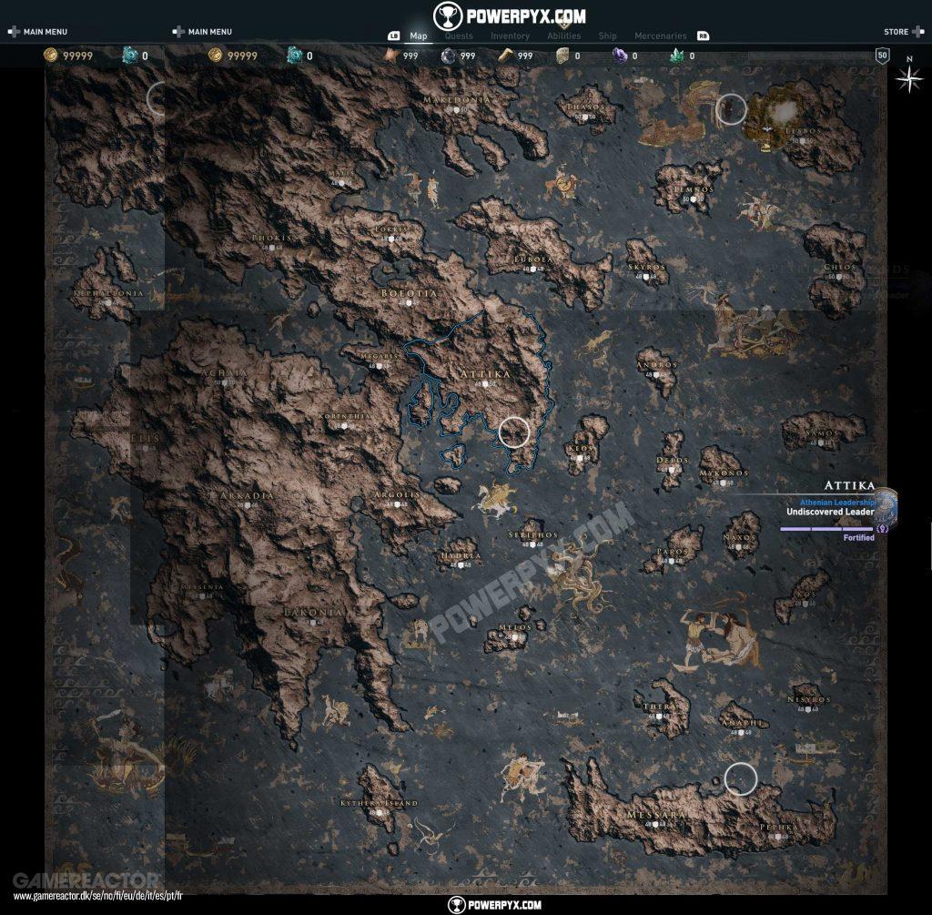 Gambar Dari Map Utuh Assassin S Creed Odyssey Terungkap 3 3