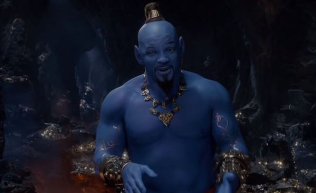 Will Smith tampil biru di trailer terbaru live action Aladdin