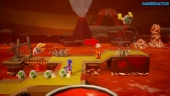 Yoshi's Crafted World - Gameplay: Poochy's Magma Run