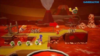 Yoshi's Crafted World - Gameplay: Poochy's Magma Run