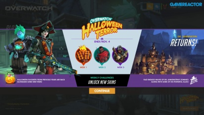 Overwatch - Gameplay Halloween Opening dan Junkenstein's Revenge