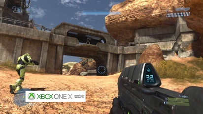 Halo 3, High Ground - Graphics Comparison: Xbox 360 vs. Xbox One X