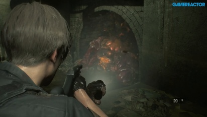 Resident Evil 2 - Gameplay Stage Sewer Leon S. Kennedy