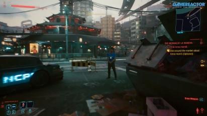 Cyberpunk 2077 - Melihat opsi pilihan pembunuh bayaran