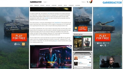 GRTV News - Crunch CD Projekt Red saat Mengembangkan Cyberpunk 2077