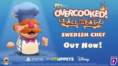 Overcooked! All You Can Eat - Trailer Karakter Koki Swedia