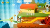 Yoshi's Crafted World - Ribbon Level Poochy Gameplay