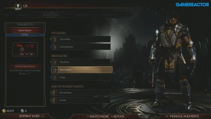 Mortal Kombat 11 - Customization Menu