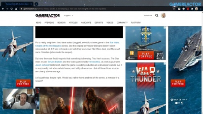 GRTV News - Rumor: Sebuah studio non-EA sedang mengembangkan game Star Wars: Knight of the Old Republic